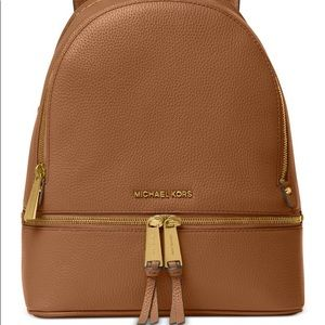 Michael Kors Brown Leather Backpack Purse
